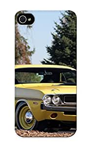 Fireingrass Iphone 5/5s Hybrid Tpu Case Cover Silicon Bumper 1970 Dodge Challenger Rt 426 Hemi Muscle Classic