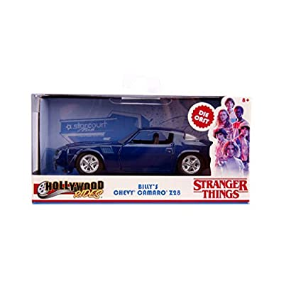 Billy's Chevrolet Camaro Z28 Metallic Dark Blue Stranger Things (2016) TV Series Hollywood Rides 1/32 Diecast Model Car by Jada 31113: Toys & Games