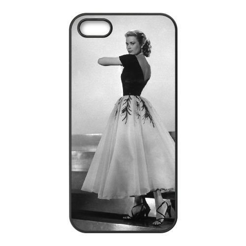 Grace Kelly 005 coque iPhone 4 4S cellulaire cas coque de téléphone cas téléphone cellulaire noir couvercle EEEXLKNBC25479