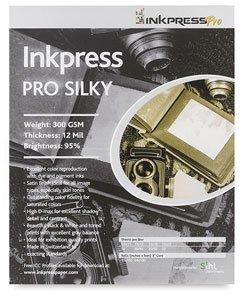 Inkpress Pro Silky Inkjet Photo Paper, 300gsm, 12mil, 95% Bright, 8.5x11