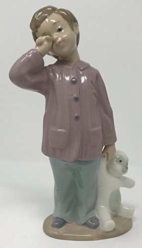 Nao by Lladro Collectible Porcelain Figurine: SLEEPY-HEAD - 7 1/2