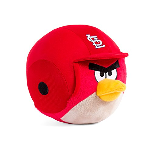 Cardinals Plush - Fabrique Innovations MLB St. Louis Cardinals Angry Bird Plush Toy, Small, Red