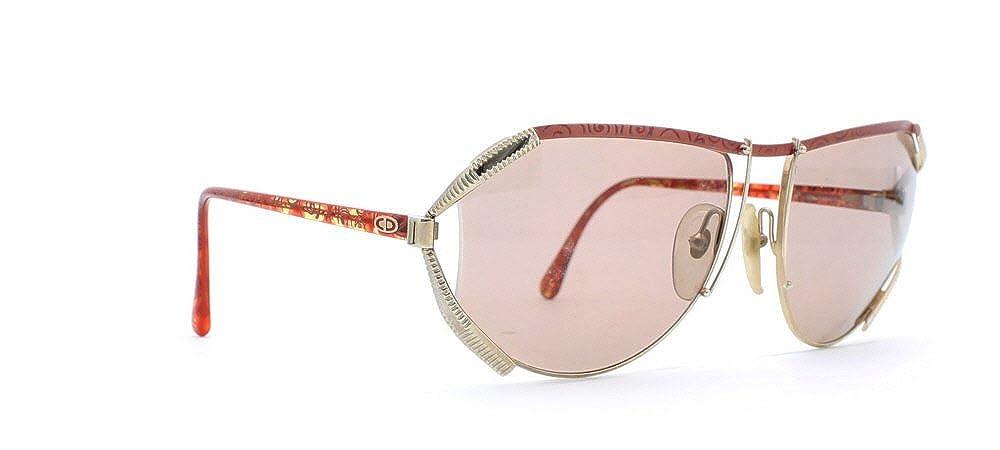 Amazon.com: Christian Dior 2609 43 Dorado y Rojo Authentic ...