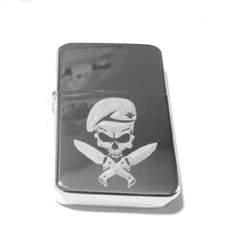 Vector KGM Thunderbird Custom Lighter - Military Armed Force Skull with Knife Mf Weapons Tactical Gear Logo Silver High Polish Chrome Rare! by VECTOR