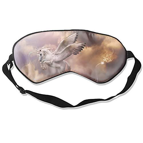 Fantasy Pegasus Horse Wings Eye Mask for Sleeping Puffy Eyes, Travel, Meditation, Insomnia & Migraine. Soft Night Blindfold & Adjustable Band