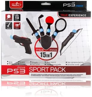 PEGA 15 in 1 Sport Pack for PS3 Move Set (Black) + Worldwide free shiping: Amazon.es: Electrónica