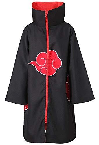 Aries Tuttle The Naruto Unisex Akatsuki Cloud Cosplay Costume Uniform Cloak Hoodie Robe Outerwear -