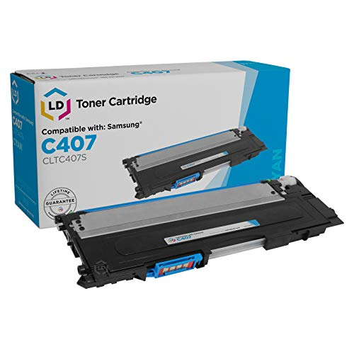 LD Compatible Toner Cartridge Replacement for Samsung C407 CLT-C407S (Cyan) (Samsung Laser Printer 325w)