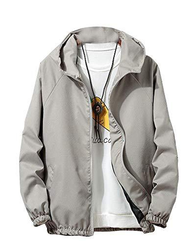 Sottile Jacke Quge Grigio Sport Giacche In Leggero Giacca Softshell Uomo Peso 4xqzr48w