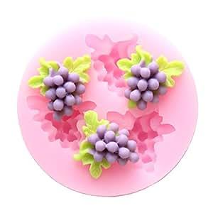 Eoonfirst con tres agujeros peque os uva frutas molde de - Moldes silicona amazon ...