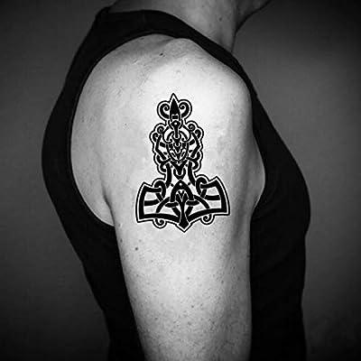 Tatuaje Temporal de Martillo Tribal (2 Piezas) - www.ohmytat.com ...