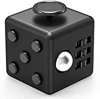 XDesign Fidget Cube Focus Fidget Toy, Prime Quality, Anti-Stress Cube Ball Toys for Children, Teens, Students and Adults [Easy Carrying] Dice Stress Reliever for Work, School, Class -Black (XD000028)