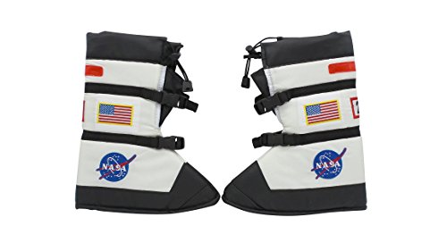 Aeromax Astronaut Boots, size Small, White, with NASA patches