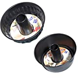 Cake Pans, Non-Stick Bundt Pan (Set of 2) Carbon Steel, 8.5'' and 10'' Diameters