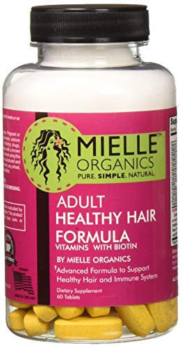 Adult Healthy Hair Formula Vitamins with Biotin 60 Tablets by Mielle Organics