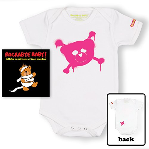 Rockabye Baby! Lullaby Renditions of Iron Maiden + Organic Baby Bodysuit (Pink/)