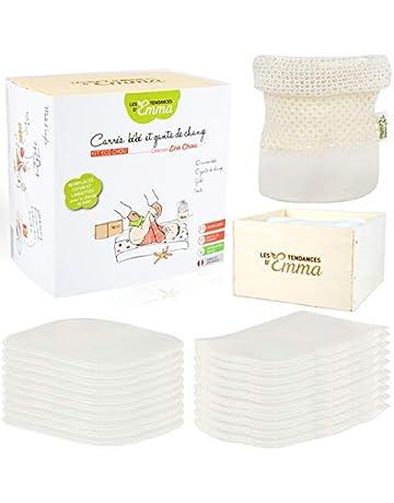 Bébé-toallitas lavables materia de bambú, color beige
