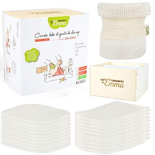 Raw Bambus Kit of waschbar Baby-Feuchtt/ücher Material