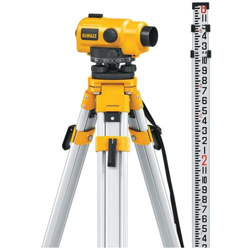 DEWALT DW096PK 26X Automatic Optical Level Kit with Tripod, Rod, and Carrying Case (Equipment Survey)