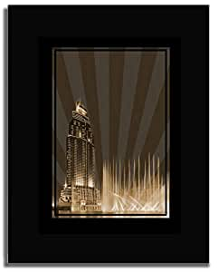 Address Hotel Down Town- Sepia No Text F04-nm (a2) - Framed