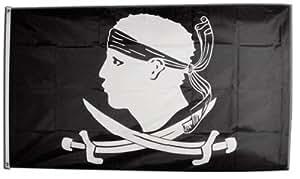 Flaggenfritze–Bandera/bandera pirata Pegatina de Córcega + Gratis,, Hissflagge 90 x 150 cm