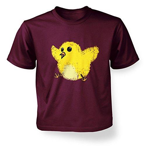 Splatter Easter Chick Kids T-shirt - Maroon S (5-6) -