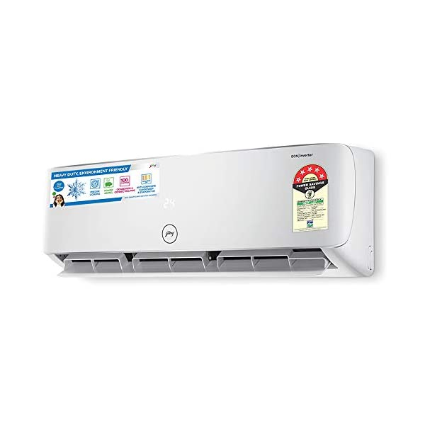 Godrej 1 Ton 5 Star Inverter Split AC (Copper, Anti Bacterial Filter, 2020 Model, GIC 12HTC5-WTA Split 5S, White)