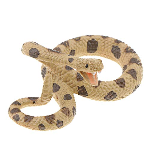 Homyl High Simulation Toy Snake Models Scary Rattlesnake Kids Prank Toys Halloween Props Decoration ()