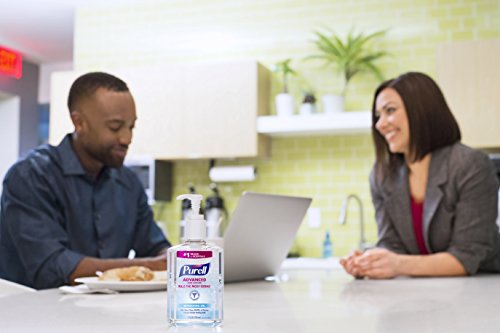 PURELL Advanced Hand Sanitizer with Aloe - Hand Sanitizer Gel 8 fl oz Table Top Pump Bottle (Pack of 2) - 9674-06-EC2PK by Purell (Image #5)