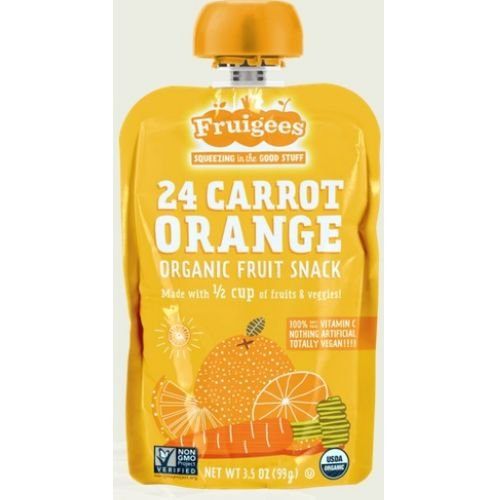 Fruigees Organic Carrot Orange Fruit Snacks, 3.5 Ounce - 6 per case.