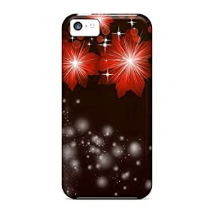 Hot Fashion MCU15815SuJD Design Cases Covers For Iphone 5c Protective Cases (orange Glows Brightly)