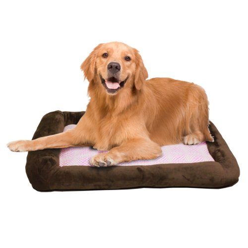 Teafco Otto Memory Foam Bed with Heat Relief Padding, Brown, Large