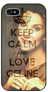 iPhone 4 / 4S Keep calm and love Celine Dion - black plastic case / Keep calm by runtopwell