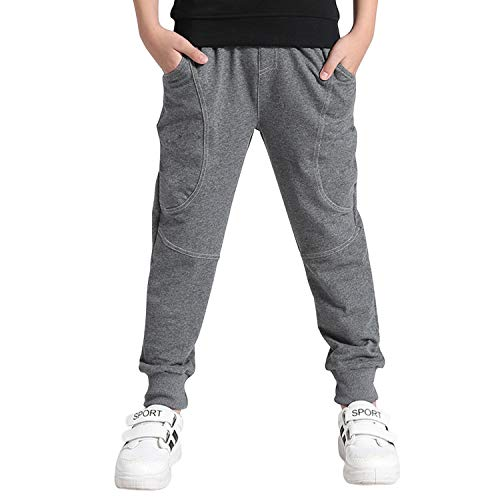 De feuilles Kids Boys Sports Jogger Pants Casual Warm Long Pants Trousers Tracksuit Bottom…