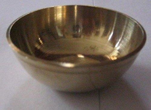 Artcollectibles India 5 Brass Small Bowls Temple Religous Festive Use Holi Diwali Navratras Puja