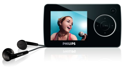 Philips SA32 4 GB Flash Video MP3 Player with FM Radio and 1.8-Inch Color Screen (Black)