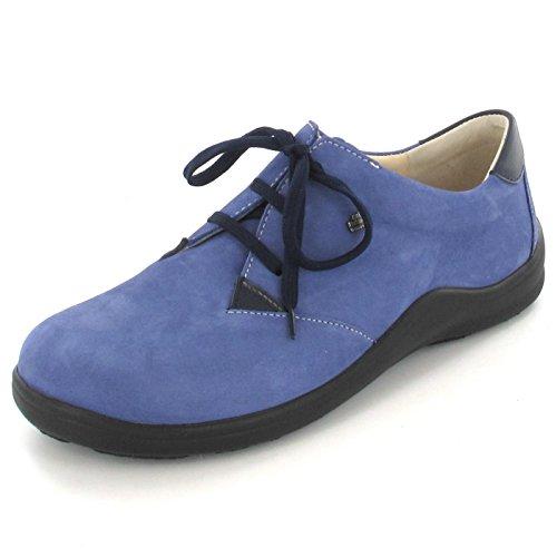 blau FINNCOMFORT Harrow blue electro Up Flats Women's Lace Electro q6BzwqRA8