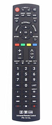 Panasonic N2QAYB000485 Universal Remote Control for All Panasonic BRAND TV, Smart TV - 1 Year Warranty by Nettech