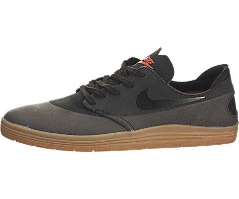 Nike Lunar Oneshot Skate Shoe - Men's Black/Black-Gum Medium Brown, 9.5