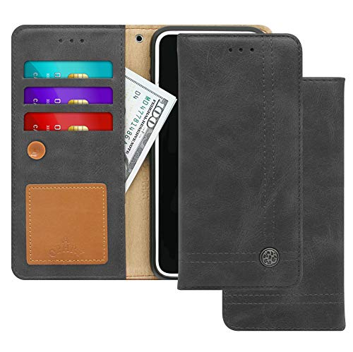 (LG X Charge, X Power 2, Fiesta LTE, Fiesta 2, K10 Power Case [Free 9 gifts] TRIM LINE Flip Diary Cover with Wallet Design [Octopus Ver.]– Card Holder, Cash Slots, Kickstand, Strap, Memo Pad - Ash Gray)