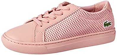 Lacoste L.12.12 318 2 Kids Fashion Shoes, Pink, 1 US