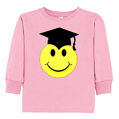 Inktastic - Smiley Graduate Toddler Long Sleeve T-Shirt 4T Pink