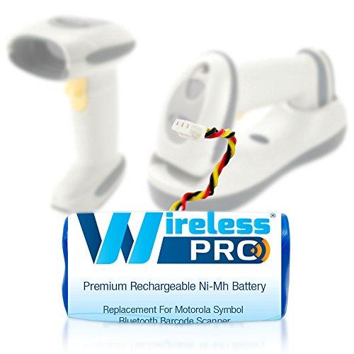Wireless Pro® Premium Replacement Ni-Mh Rechargeable 800mAh 3.6V Battery for Motorola Symbol LS4278 Barcode Scanner - Fits Motorola Symbol BTRY-LS42RAAOE-01, Symbol 82-67705-01, Symbol ()