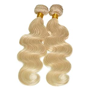 Grade 6a Blonde Hair Weave 613# Color Hair Extension Brazilian Body Wave Blonde Hair (28inch10)