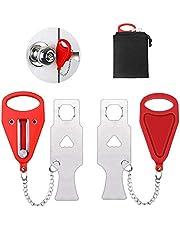 2 Pack Portable Door Lock,Travel Lock,AirBNB Lock, for marchers, bedrooms, Door Locks, Schools, Family Apartments, motels, Hotels, Travel Safety Door