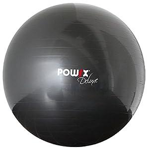 POWRX Gymnastikball Sitzball Deluxe Fitnessball mit Pumpe, Anthrazit, 85 cm,...