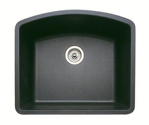 Blanco Diamond Undermount Composite 24x20.8x10 0-Hole Single Bowl Kitchen Sink in Anthracite by Blanco by Blanco