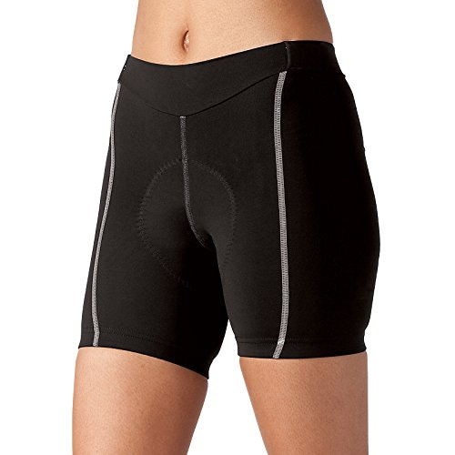Terry New Women's Bella 5 inch Cycling Shorts - One of The Best Cycling Shorts Available to Women with Flex Air Chamois - Black/Gray - Medium