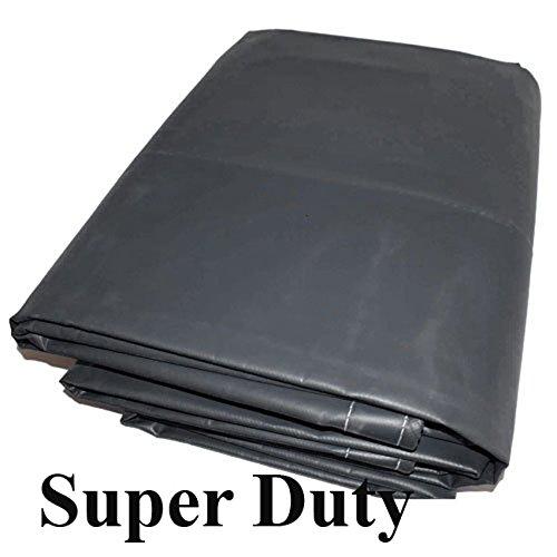 (18 Mil 10x20 Canopy Replacement Top PVC Vinyl Super Duty Valance Tarp (Silver))