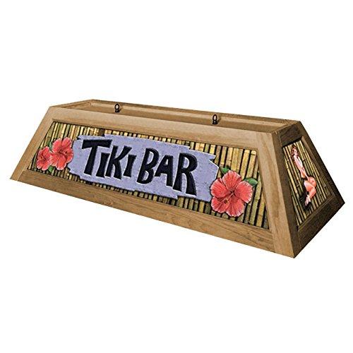 Tiki Bar Pool Table Light - Oak by KegWorks